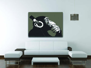 DJ Monkey Headphones Canvas Print or Poster - Canvas Art Rocks - 4