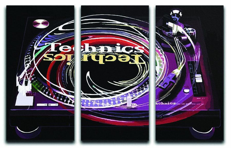DJ Technics Spin 3 Split Panel Canvas Print - Canvas Art Rocks - 1