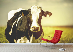Dairy cow on the countryside Wall Mural Wallpaper - Canvas Art Rocks - 2