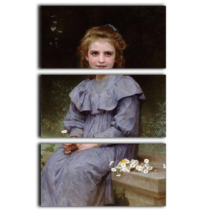 Daisies By Bouguereau 3 Split Panel Canvas Print - Canvas Art Rocks - 1