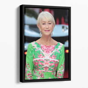 Dame Helen Mirren Floating Framed Canvas - Canvas Art Rocks - 1