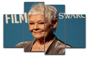 Dame Judi Dench 4 Split Panel Canvas  - Canvas Art Rocks - 1