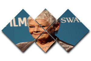 Dame Judi Dench 4 Square Multi Panel Canvas  - Canvas Art Rocks - 1