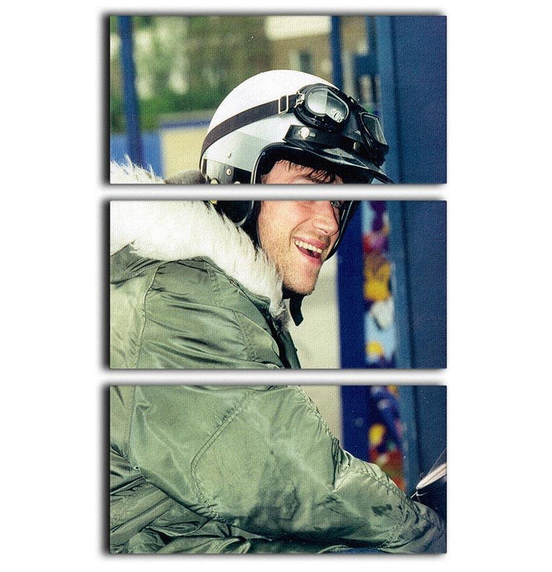 Damon Albarn on a scooter 3 Split Panel Canvas Print - Canvas Art Rocks - 1