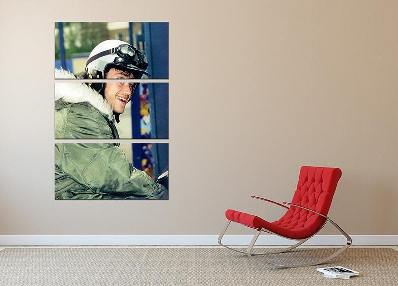 Damon Albarn on a scooter 3 Split Panel Canvas Print - Canvas Art Rocks - 2