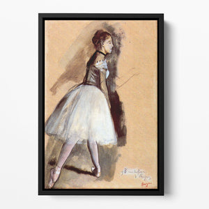 Dancer in step position 1 by Degas Floating Framed Canvas