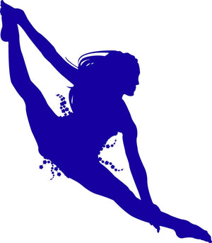 Dancing Girl Wall Decal - Canvas Art Rocks - 2