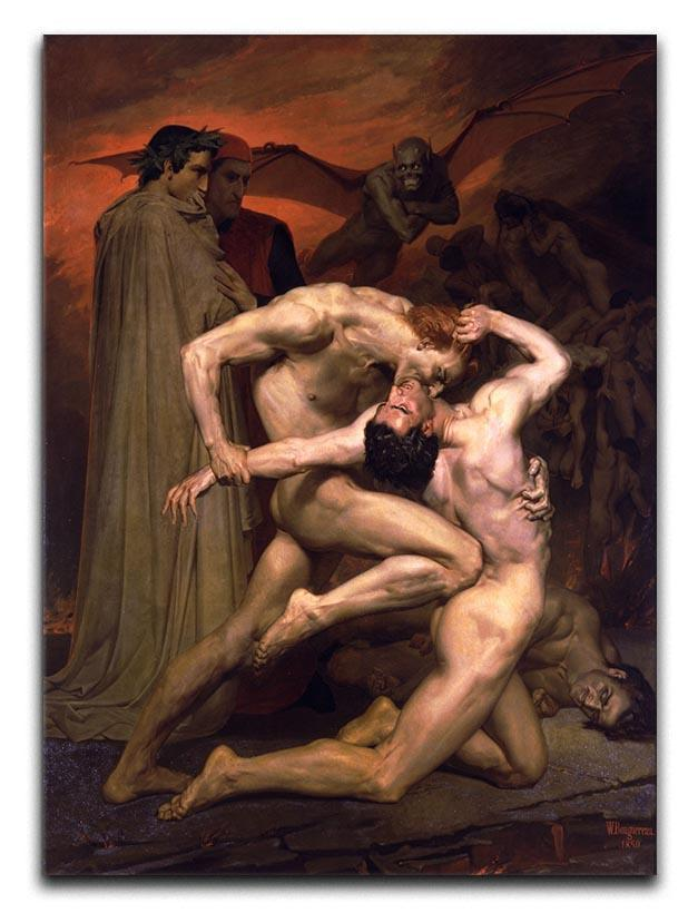 Dante And Virgil In Hell By Bouguereau Canvas Print or Poster  - Canvas Art Rocks - 1