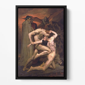 Dante And Virgil In Hell By Bouguereau Floating Framed Canvas