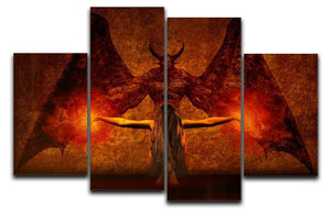 Dark Art 4 Split Panel Canvas  - Canvas Art Rocks - 1