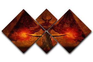 Dark Art 4 Square Multi Panel Canvas  - Canvas Art Rocks - 1