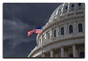 Dark sky over the US Capitol building Canvas Print or Poster  - Canvas Art Rocks - 1