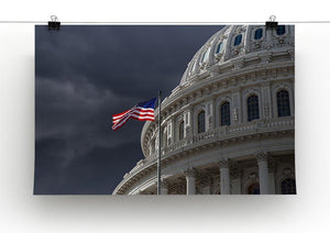 Dark sky over the US Capitol building Canvas Print or Poster - Canvas Art Rocks - 2