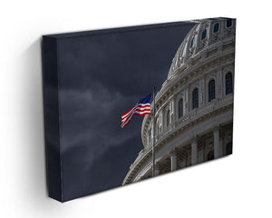 Dark sky over the US Capitol building Canvas Print or Poster - Canvas Art Rocks - 3