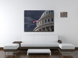 Dark sky over the US Capitol building Canvas Print or Poster - Canvas Art Rocks - 4