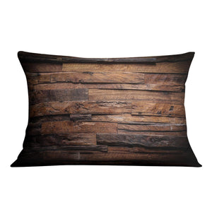 Dark wood texture Cushion - Canvas Art Rocks - 4