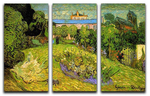 Daubigny's Garden 2 by Van Gogh 3 Split Panel Canvas Print - Canvas Art Rocks - 4