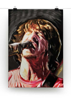 The Foo Fighters' Dave Grohl Print - Canvas Art Rocks - 2