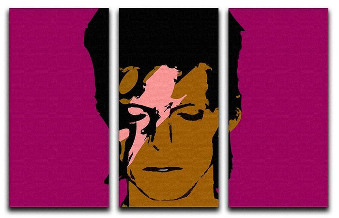 David Bowie Ziggy Stardust 3 Split Panel Canvas Print