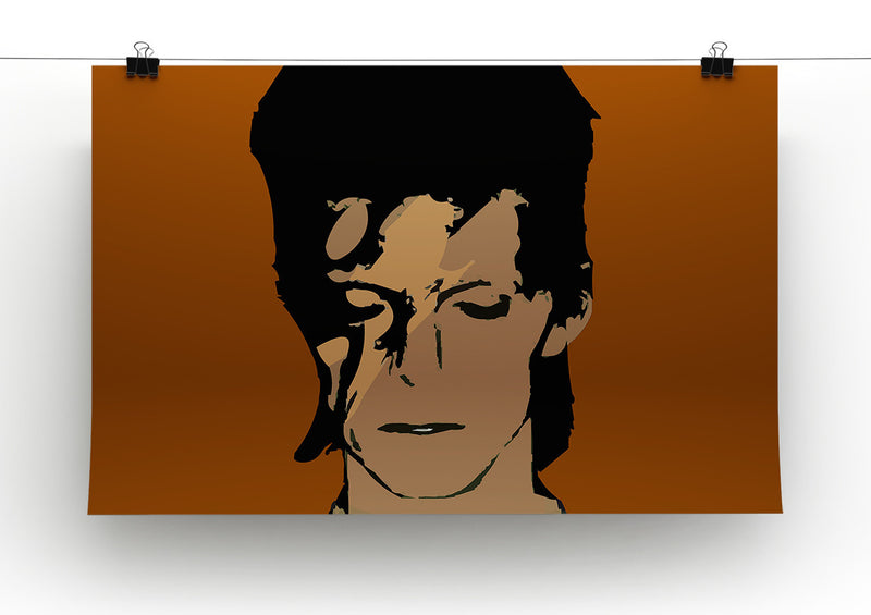 David Bowie Ziggy Stardust Print - Canvas Art Rocks - 4