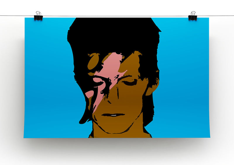 David Bowie Ziggy Stardust Print - Canvas Art Rocks - 2