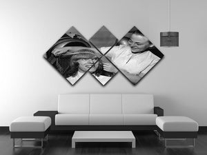 David Bowie gets a haircut 4 Square Multi Panel Canvas - Canvas Art Rocks - 3