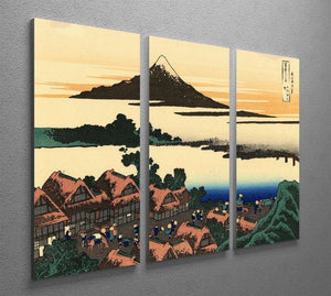 Dawn at Isawa in the Kai province by Hokusai 3 Split Panel Canvas Print - Canvas Art Rocks - 2