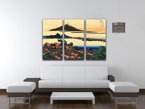 Dawn at Isawa in the Kai province by Hokusai 3 Split Panel Canvas Print - Canvas Art Rocks - 3