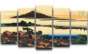 Dawn at Isawa in the Kai province by Hokusai 5 Split Panel Canvas  - Canvas Art Rocks - 1