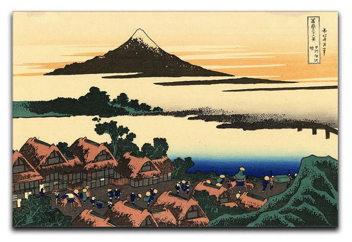 Dawn at Isawa in the Kai province by Hokusai Canvas Print or Poster