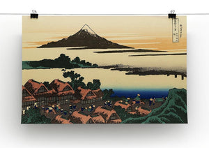 Dawn at Isawa in the Kai province by Hokusai Canvas Print or Poster - Canvas Art Rocks - 2
