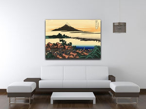 Dawn at Isawa in the Kai province by Hokusai Canvas Print or Poster - Canvas Art Rocks - 4