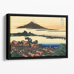 Dawn at Isawa in the Kai province by Hokusai Floating Framed Canvas