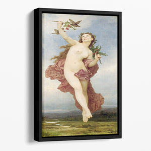 Day By Bouguereau Floating Framed Canvas