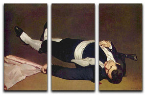 Dead Torero by Manet 3 Split Panel Canvas Print - Canvas Art Rocks - 1