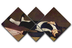 Dead Torero by Manet 4 Square Multi Panel Canvas  - Canvas Art Rocks - 1