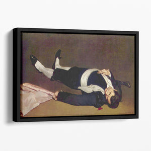 Dead Torero by Manet Floating Framed Canvas