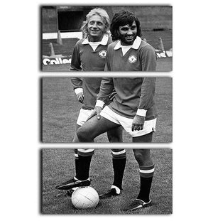 Denis Law and George Best in 1972 3 Split Panel Canvas Print - Canvas Art Rocks - 1