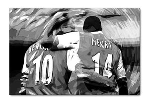 Dennis Bergkamp and Thierry Henry Print - Canvas Art Rocks - 4