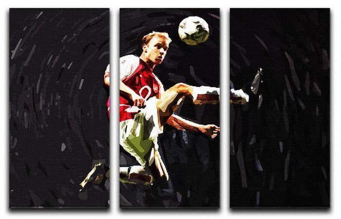 Dennis Bergkamp 3 Split Panel Canvas Print