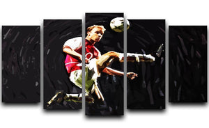 Dennis Bergkamp 5 Split Panel Canvas  - Canvas Art Rocks - 1
