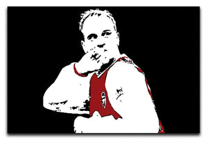Dennis Bergkamp Close Up Print - Canvas Art Rocks - 1