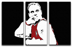 Dennis Bergkamp Close Up 3 Split Panel Canvas Print - Canvas Art Rocks - 1