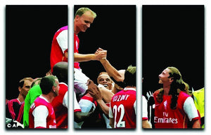 Dennis Bergkamp Testimonial 3 Split Panel Canvas Print - Canvas Art Rocks - 1