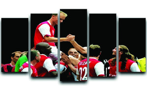 Dennis Bergkamp Testimonial 5 Split Panel Canvas  - Canvas Art Rocks - 1