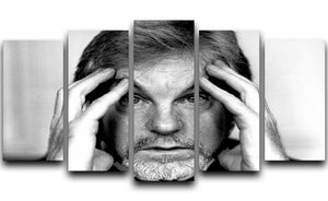 Derek Jacobi in 1988 5 Split Panel Canvas  - Canvas Art Rocks - 1