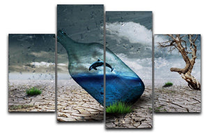 Desert In A Bottle 4 Split Panel Canvas  - Canvas Art Rocks - 1