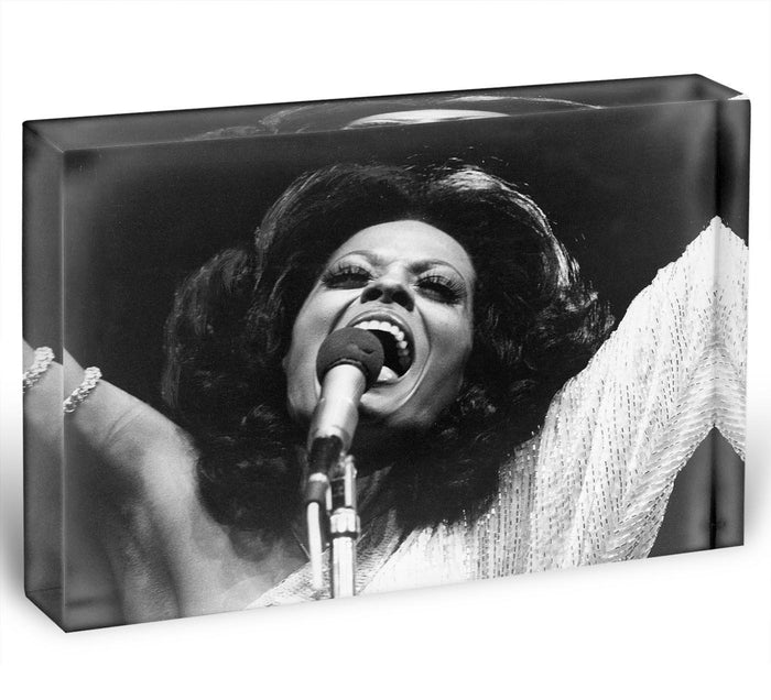 Diana Ross on stage Acrylic Block