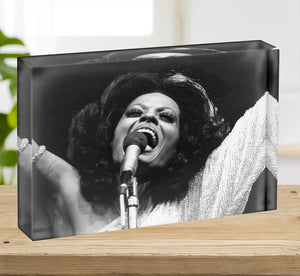 Diana Ross on stage Acrylic Block - Canvas Art Rocks - 2