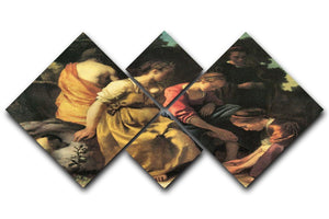 Diana and her nymphs by Vermeer 4 Square Multi Panel Canvas - Canvas Art Rocks - 1